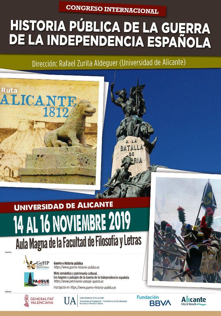 """Congreso Internacional """"Historia pública de la Guerra de la Independencia"""""""